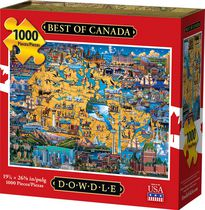Dowdle 1159941 Best Of Canada 2 Pack Puzzle